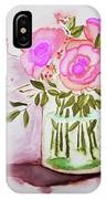 Pink Roses By Toni IPhone Case