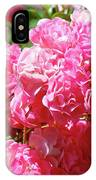 Pink Roses Summer Rose Garden Roses Giclee Art Prints Baslee Troutman IPhone Case