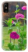 Pink Tall Zinnia's IPhone Case