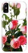 Pink Trimmed Roses IPhone Case