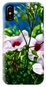 Pink Trumpet Flowers In Pilgrim Place In Claremont-california IPhone Case