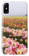 Pink Tulips And Tractor IPhone Case