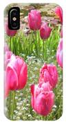 Pink Tulips By Peaceful Pond IPhone Case