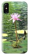 Pink Water Lily Pad IPhone Case