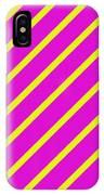 Pink Yellow Angled Stripes IPhone Case