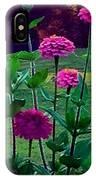Pink Zinnia's IPhone Case