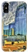 Pinnacle Building Sunset Nashville Shadows Nashville Tennessee Art IPhone Case