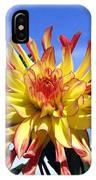 Pinwheel Dahlia IPhone Case