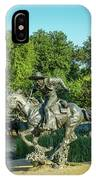 Pioneer Plaza Cattle Drive Monument Dallas IPhone Case