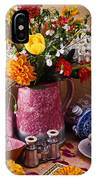 Pitcher Of Flowers Still Life IPhone Case
