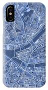 Pittsburgh Map Blue IPhone Case