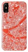 Pittsburgh Map Red IPhone Case