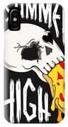 Pizza Skull IPhone Case