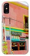 Pizzeria In La Boca Area Of Buenos Aires-argentina  IPhone Case