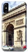 Arc De Triomphe # 2 IPhone Case by Mel Steinhauer