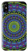 Plaid Wheel Mandala IPhone Case