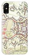 Plan Of Part Of The City And Citadel Of Strasbourg IPhone Case