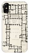 Plan Of Principal Floor Of Hampton IPhone Case