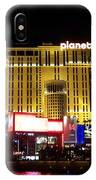 Planet Hollywood By Night IPhone Case