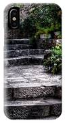 Plants Grow In The Uneven Stairs Climbing Towards The Tower IPhone Case