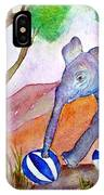 Playing By The Baobab Tree IPhone Case