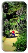 Playing In The Garden Five IPhone Case