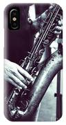 Playing The Saxophone IPhone Case