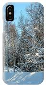 Plowed Winter Street In Sunlight IPhone Case