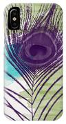 Plumage 2-art By Linda Woods IPhone Case