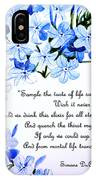 Plumbago   Poem IPhone Case