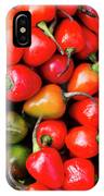 Plump Red Peppers Photo Stock IPhone Case