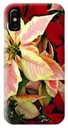 Poinsetta Greetings IPhone Case