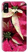 Poinsettias -  Painted And Speckled IPhone Case