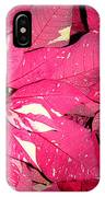 Poinsettias -  Red And White Speckled IPhone Case