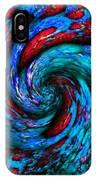 Pointelist Fractal Swirl Catus 1 No. 1 V B  IPhone Case