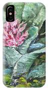 Poison Dart Frog On Bromeliad IPhone Case