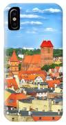 Poland, Torun, Urban Landscape. IPhone Case