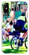 Police Officer Rides A Bicycle IPhone Case
