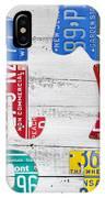 Political Party Election Vote Republican Vs Democrat Recycled Vintage Patriotic License Plate Art IPhone Case