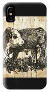 Polled Hereford Bull 11 IPhone Case