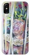 Polynesian Maori Warrior With Spears IPhone Case