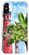 Ponce De Leon Inlet Florida Lighthouse Art IPhone Case