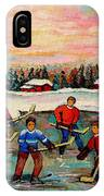 Pond Hockey Countryscene IPhone Case