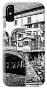 Ponte Vecchio Florence Sketch IPhone Case