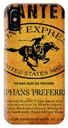 Pony Express Wanted Poster IPhone Case