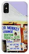Poor Monkey's Juke Joint IPhone Case