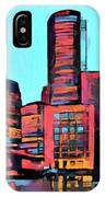 Pop Art Boston Skyline IPhone Case