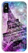 Pop Art Eiffel Tower IPhone X Case
