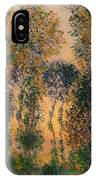 Poplars At Giverny - Sunrise IPhone Case