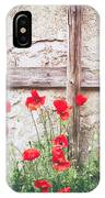 Poppies Against Wall IPhone Case